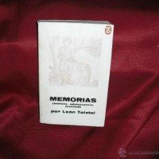 Libros de segunda mano: MEMORIAS ( INFANCIA,ADOLESCENCIA,JUVENTUD) DE LEON TOLSTOI) 1º EDICION 1962 447 PAG. Lote 40767468