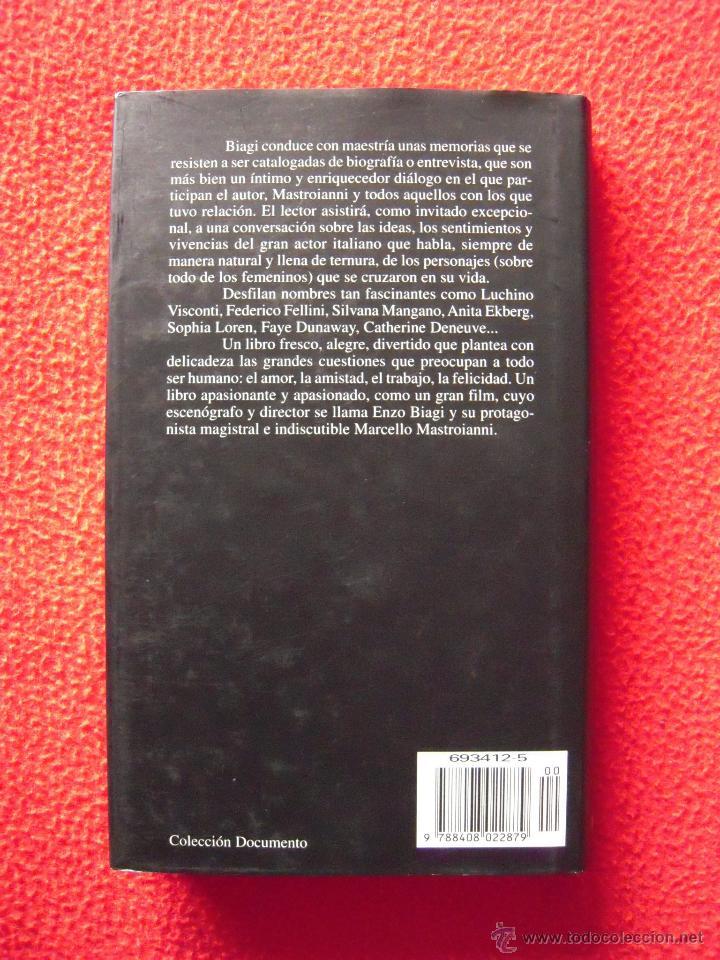 Libros de segunda mano: LA BELLA VITA, CONFESIONES INTIMAS DE MARCELLO MASTROIANI - ENZO BIAGI - Foto 2 - 40850109