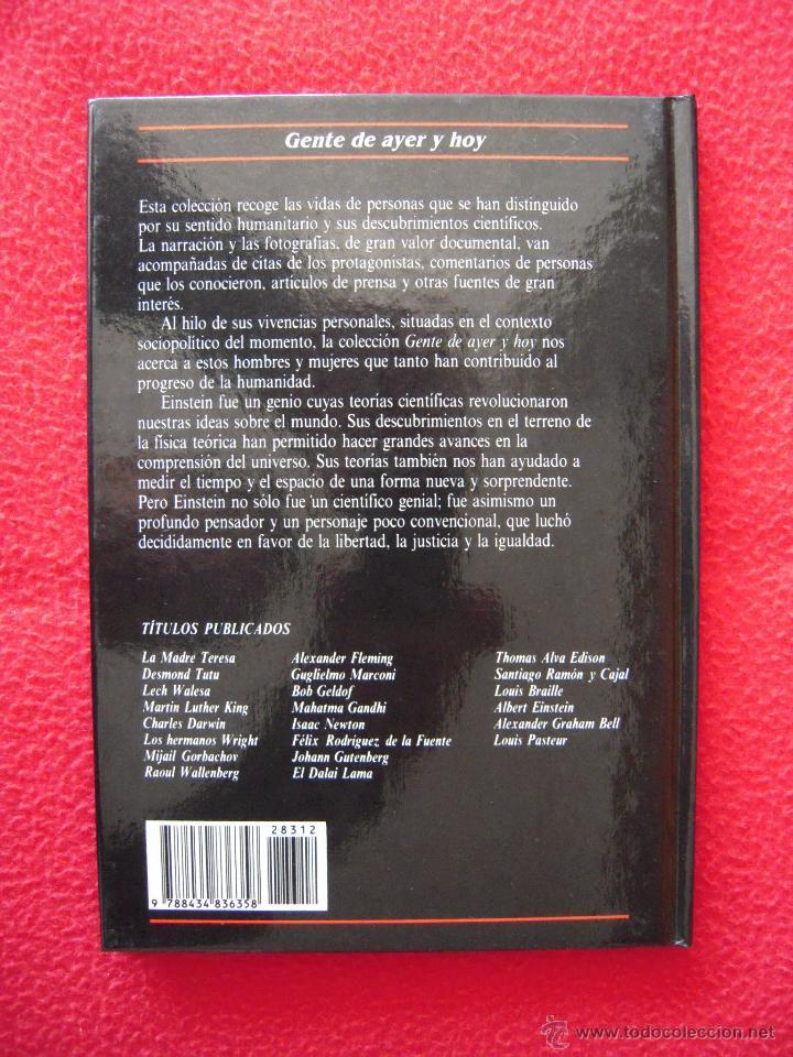 Libros de segunda mano: ALBERT EINSTEIN - FIONA MACDONALD - GENTE DE AYER Y DE HOY - EDICIONES SM - Foto 2 - 42142116