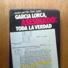 Livros em segunda mão: GARCIA LORCA ASESINADO TODA LA VERDAD, JOSE LUIS VILA SAN JUAN, ESPEJO DE ESPAÑA, PLANETA, 1975. Lote 42513437