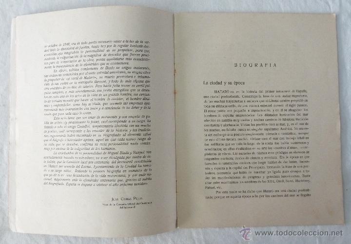 Libros de segunda mano: BIOGRAFIA DE D. MIGUEL BIADA BUNYOL - EL CARRIL DE MATARÓ / JAIME CASTELLVÍ TODA - 1947 - Foto 3 - 42985482