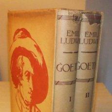 Libros de segunda mano: GOETHE LA VIDA DE UN HOMBRE DE EMIL LUDWIG 1ª EDICION 1932 ED. JUVENTUD. Lote 43044227