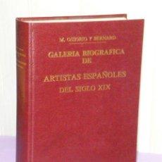 Libros de segunda mano: GALERÍA BIOGRÁFICA DE ARTISTAS ESPAÑOLES DEL SIGLO XIX.. Lote 43483610
