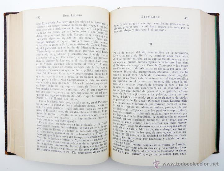 Libros de segunda mano: OBRAS COMPLETAS / E. LUDWIG/ ED. JUVENTUD 1957/ 1ª EDICION / PIEL / BIOGRAFIAS / VOLUMEN V - Foto 4 - 43562213