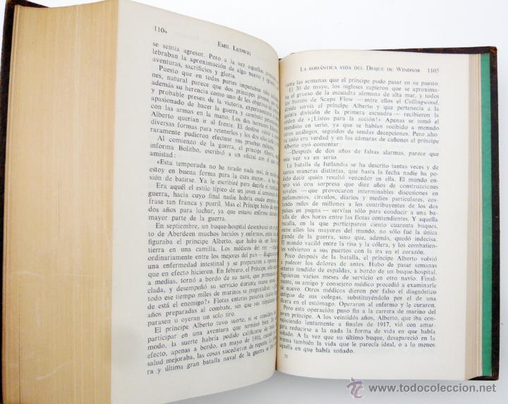 Libros de segunda mano: OBRAS COMPLETAS / E. LUDWIG/ ED. JUVENTUD 1957/ 1ª EDICION / PIEL / BIOGRAFIAS / VOLUMEN V - Foto 5 - 43562213