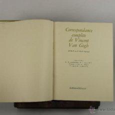 Libros de segunda mano: 4714- CORRESPONDANCE COMPLETE DE VINCENT VAN GOGH. EDIT. GALLIMARD. 1960. 3 VOL. . Lote 43659475