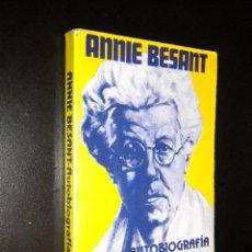 Second hand books - annie besant / autobiografia - 44161599