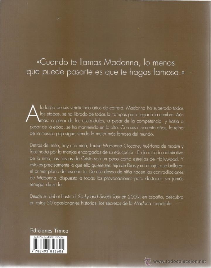 Libros de segunda mano: SYLVIE NAVARRON RUELLAN (EDI.). Madonna. RM66081. - Foto 2 - 44761129