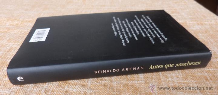 Libros de segunda mano: Libro Antes que anochezca, autor Reinaldo Arenas, Autobiografía, Círculo de Lectores, año 2001 - Foto 2 - 44877664