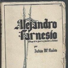 Libros de segunda mano: LA ESPAÑA IMPERIAL, ALEJANDRO FARNESIO, JULIAN MARÍA RUBIO, LUZ ZARAGOZA 1939. Lote 114308644