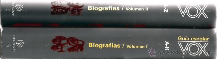 VV.AA. GUÍA ESCOLAR VOX. BIOGRAFÍAS. TOMOS I Y II. DOS TOMOS. RM66588. (Libros de Segunda Mano - Biografías)