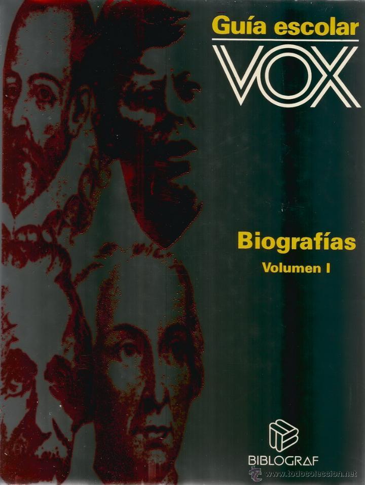 Libros de segunda mano: VV.AA. Guía Escolar Vox. Biografías. Tomos I y II. DOS TOMOS. RM66588. - Foto 2 - 45423507