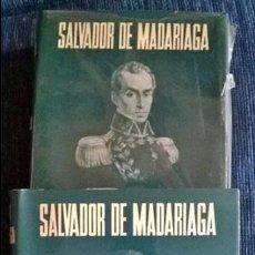 Libros de segunda mano: BOLIVAR SALVADOR DE MADARIAGA 2 TOMOS ESPASA CALPE 1975 MUY BUEN ESTADO. Lote 194992760