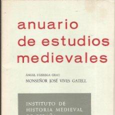 Libros de segunda mano: MONSEÑOR JOSÉ VIVES GATELL – ANGEL FÁBREGA GRAU – 1969. Lote 47421218