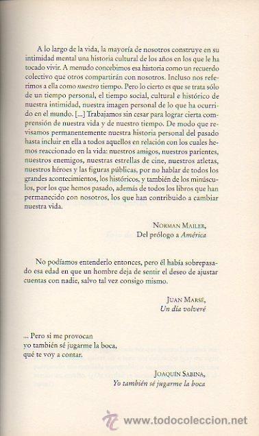 Libros de segunda mano: SABINA EN CARNE VIVA. YO TAMBIÉN SÉ JUGARME LA BOCA. JOAQUÍN SABINA, JAVIER MENÉNDEZ FLORES. ED. B - Foto 2 - 47494644