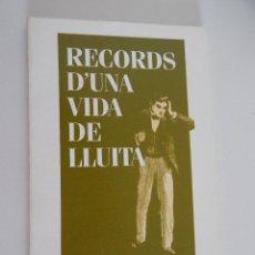 Libros de segunda mano: FRANCESC FERRÉS I FERRÉS. RECORDS D´UNA VIDA DE LLUITA - AJUNTAMENT DE SANT BOI DE LLOBREGAT, 1991. Lote 48976982