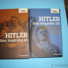 Libros de segunda mano: HITLER, UNA BIOGRAFÍA. JOACHIM FEST. I Y II. Lote 49592504