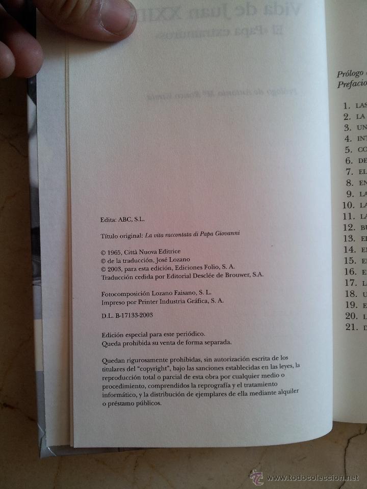 Libros de segunda mano: VIDA DE JUAN XXIII. EL PAPA EXTRAMUROS Gino Lubich ABC 2003 - Foto 5 - 49601130