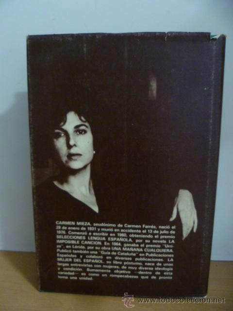 Libros de segunda mano: LA MUJER DEL ESPAÃ'OL Carmen Mieza Editorial: EDICIONES MARTE, Barcelona (1977) - Foto 7 - 49826826