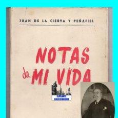 Libros de segunda mano: JUAN DE LA CIERVA Y PEÑAFIEL - NOTAS DE MI VIDA - INSTITUTO EDITORIAL REUS 1955 - BUENA CONSERVACIÓN. Lote 90532665