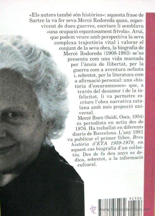 Libros de segunda mano: Mercè Rodoreda (Mercè Ibarz) - BIOGRAFÍA - LITERATURA - Foto 2 - 50804577