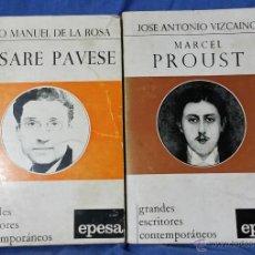 Libros de segunda mano: CESARE PAVESE / MARCEL PROUST - BIOGRAFÍAS (GRANDES ESCRITORES CONTEMPORÁNEOS) AÑOS 70. Lote 50904418