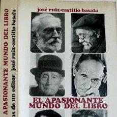 Libros de segunda mano: RUIZ - CASTILLO BASALA, JOSÉ. MEMORIAS DE UN EDITOR. 1972.. Lote 51398194