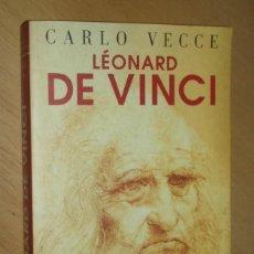 Libros de segunda mano: LÉONARD DE VINCI - CARLO VECCE- EN FRANCÉS. Lote 51785099