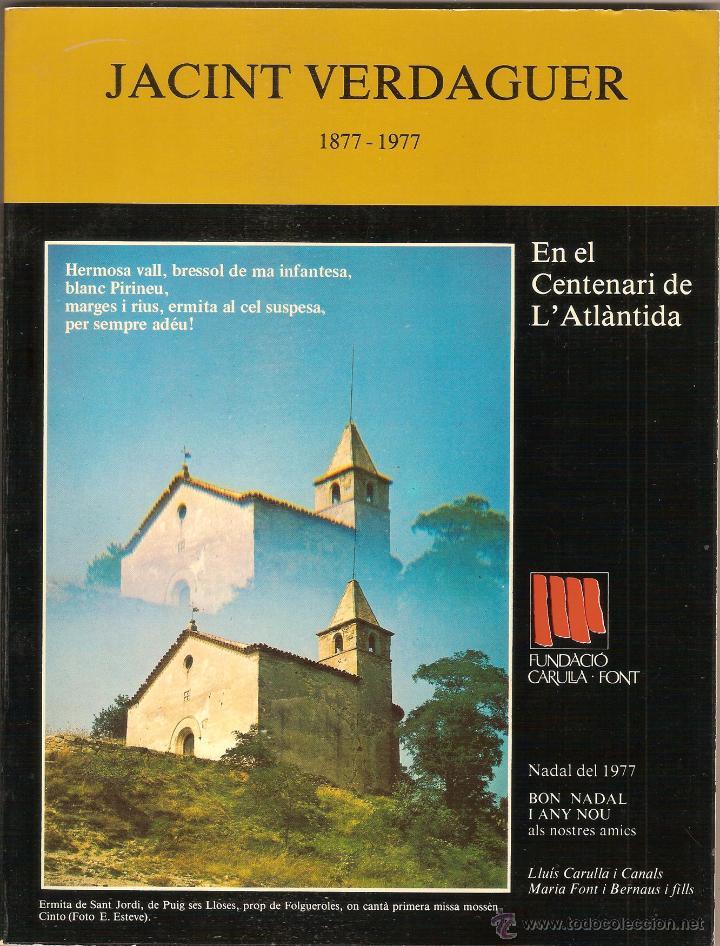 JACINT VERDAGUER (1877-1977). (EN EL CENTENARI DE L'ATLÀNTIDA). NADALA 1977 (Libros de Segunda Mano - Biografías)
