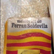 Libros de segunda mano: ANTIGUO LIBRO MEMORIES DE FERRAN SOLDEVILA, AL LLARG DE LA MEVA VIDA, EDICIONES 62 S.A. DEL AÑO 1979. Lote 52308189