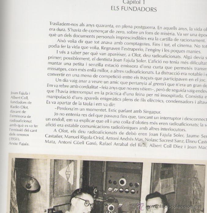 Libros de segunda mano: RADIO OLOT 50 ANYS 1951-2001 *** ALEXANDRE CUÉLLAR BASSOLS - Foto 3 - 52922237