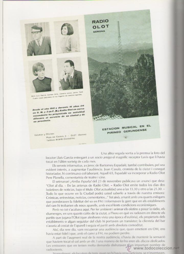 Libros de segunda mano: RADIO OLOT 50 ANYS 1951-2001 *** ALEXANDRE CUÉLLAR BASSOLS - Foto 7 - 52922237