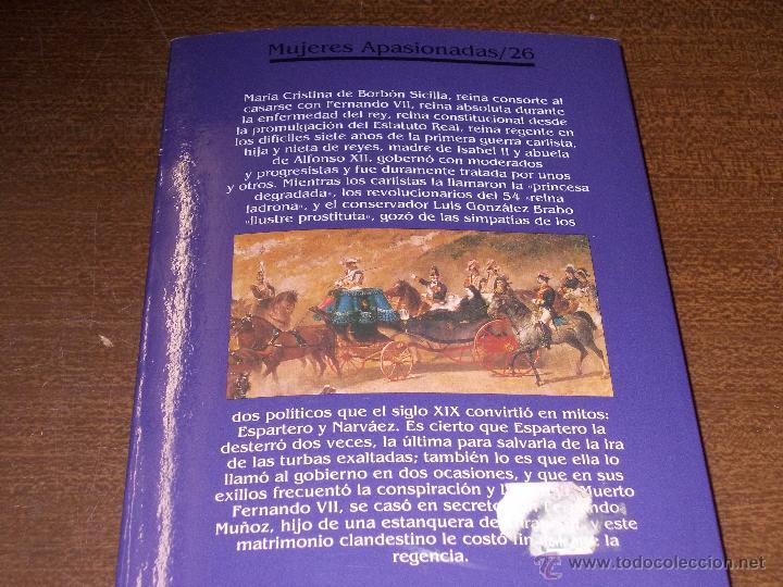Libros de segunda mano: María Cristina, la reina burguesa. Eduardo G. Rico. La última esposa Fernando VII y madre Isabel II - Foto 2 - 57769112