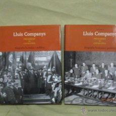 Libros de segunda mano: LLUIS COMPANYS, PRESIDENT DE CATALUNYA. BIOGRAFIA HUMANA I POLÍTICA. 2 VOLUMENES+CD. GRAN FORMATO.. Lote 53624069