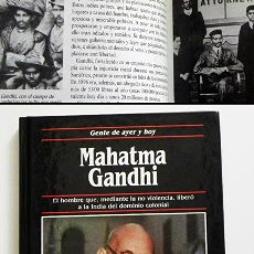 Libros de segunda mano: MAHATMA GANDHI - BIOGRAFÍA LIBRO - MUY ILUSTRADO - EDICIONES SM - HISTORIA FOTOS - INDIA - PACIFISMO. Lote 53703656