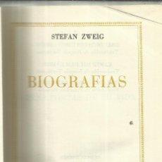 Libros de segunda mano: TRES POETAS DE SU VIDA. STEFAN ZWEIG. PLAZA & JANES. BARCELONA. 1961. Lote 53952630