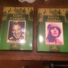 Libros de segunda mano: ANTIGUO 2 LIBRO PERSONAJES DEL SIGLO XX GRETA GARBO Y GARY COOPER EDICIONES ROEDA . Lote 53995614