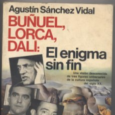 Libros de segunda mano: EL ENIGMA SIN FIN-BUÑUEL,LORCA,DALI-AÑO 1988. Lote 54082214