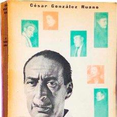 Libros de segunda mano: GONZÁLEZ RUANO : LAS PALABRAS QUEDAN. (CONVERSACIONES). 1ª ED., 1957. RETRATOS E ILUSTRACIONES.. Lote 54509833