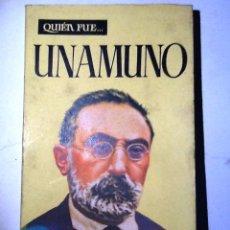 Libros de segunda mano: QUIEN FUE UNAMUNO. 1959. CESAR GONZALEZ RUANO. Lote 54846256