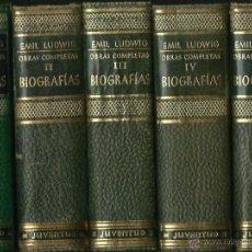 Libros de segunda mano: EMIL LUDWIG : OBRAS COMPLETAS. BIOGRAFÍAS. 5 VOLS. (ED. JUVENTUD, CLÁSICOS Y MODERNOS, 1955-57). Lote 54921623