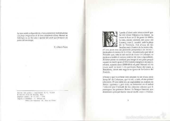 Libros de segunda mano: Breu notícia de lobra i de la vida de Manuel de Cabanyes : 1808-1833 - Foto 2 - 55318293