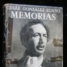 Libros de segunda mano: MEMORIAS - MI MEDIO SIGLO SE CONFIESA A MEDIAS - GONZALEZ - RUANO , CÉSAR .- 1951 - PRIMERA EDICIÓN. Lote 57195480