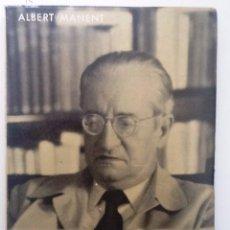 Libros de segunda mano: CARLES RIBA. 1963 ALBERT MANENT. BIOGRAFIES POPULARS NUM 10. Lote 57483629