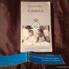 Libros de segunda mano: CAMAS GROUCHO MARX TUSQUETS EDITORES 1 EDICIÓN 1984. Lote 57623563