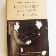 Libros de segunda mano: DE BASTARDO A INFANTE DE ESPAÑA - LIBRO BIOGRAFÍA LEANDRO BORBÓN MONARQUÍA HIJO DEL REY ALFONSO XIII. Lote 57918422