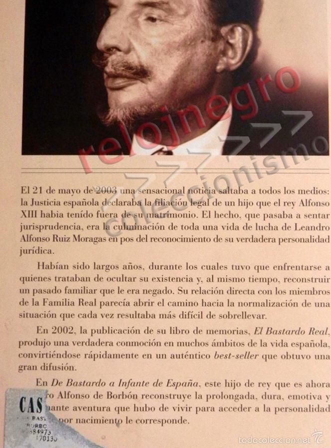 Libros de segunda mano: DE BASTARDO A INFANTE DE ESPAÑA - LIBRO BIOGRAFÍA LEANDRO BORBÓN MONARQUÍA HIJO DEL REY ALFONSO XIII - Foto 2 - 57918422