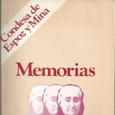Libros de segunda mano: MEMORIAS CONDESA ESPOZ Y MINA. PRÓLOGO CONDESA DE CAMPO ALANGE. TEBAS. MADRID 1977. Lote 58073884