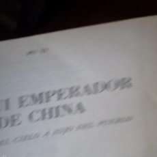 Libros de segunda mano: YO FUI EMPERADOR DE CHINA. PU YI. Lote 58176967