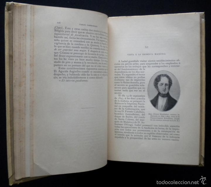 Libros de segunda mano: PCBROS - ISABEL II, ÍNTIMA - CARLOS CAMBRONERO - ED. MONTANER Y SIMÓN - 1908 - ED. ILUSTRADA - Foto 10 - 58526663